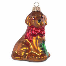 Sikora Bs182 Hund Mit Schleife Christbaumschmuck Glas Figur Weihnachtsbaum Anhänger Caspar Taschen