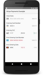 android card input widget