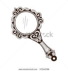 Antique Hand Mirror Vector More information