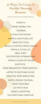 20 Ways To Create A Healthy Morning Routine — Sena Studio