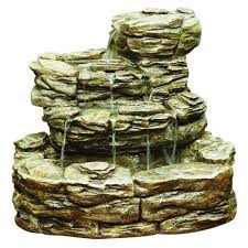 hampton bay cement rock fountain