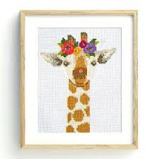 Cross Stitching Patterns Delectable Giraffe Cross Stitch Pattern Stitched Modern