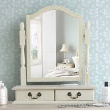 Juliette Shabby Chic Champagne Trinket Mirror, Cream dressing table mirror  with 2 drawers, adjustable angle mirror: Amazon.co.uk: Kitchen & Home