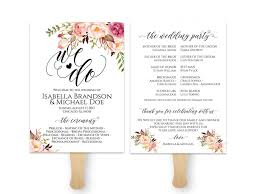 Free Wedding Programlates You Can Customize Fanlate For