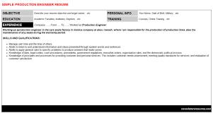 Production Engineer Job Letter Resume 3468