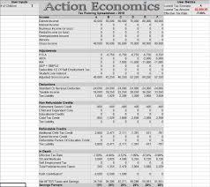 2018 Tax Planning Spreadsheet Action Economics