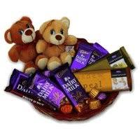send chocolates basket to bhopal