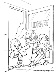 Small Picture go to library alvin and the chipmunks Coloring pages Printable