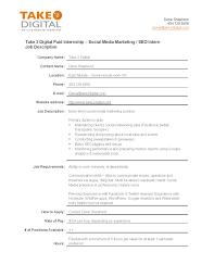Social Media Marketing Job Description Social Media Marketing Intern Job Description 24gitalrector 3
