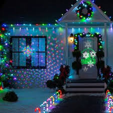 lighting decoration photos. A Home Decorated For Christmas With A Music And Light Show Program. Lighting Decoration Photos