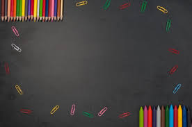 School Chalkboard Background Education School Tools On Black Chalkboard Background Photo