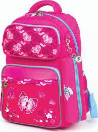 <b>Рюкзак</b> для девочки <b>Юнландия</b> Бабочки, с <b>пеналом</b>, розовый, 18 ...