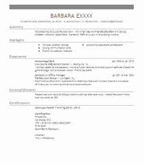 Accounting Clerk Resume Accounting Clerk Resume Of Assistant Cool