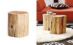 tree stump end tables natural side table west elm with regard to decor 14 tree stump end table n87