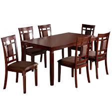venetian worldwide montclair 7 piece dark walnut dining set