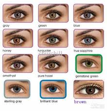 Eye Color Charts Freshlook Colorblends Contact Lenses For
