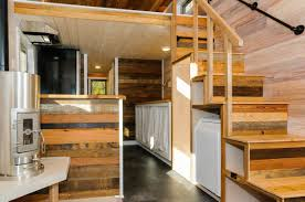 Craftsman Style Tiny Home Featuring Cedar Siding And Reclaimed - Tiny house on wheels interior