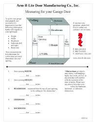 Commercial Garage Door Size Chart Sizes Of Garage Door How To Measure Garage Door Spring