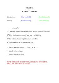 Proper Ending A Letter In Spanish Letter Format Writing Cover