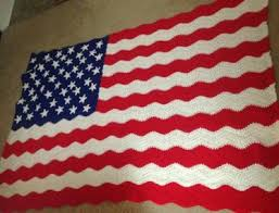 American Flag Crochet Pattern Simple Wavy American Flag Afghan Craftsy