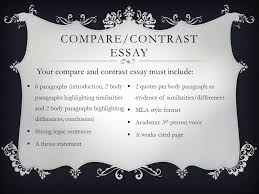 In A Compare And Contrast Essay A Strong Argument Must
