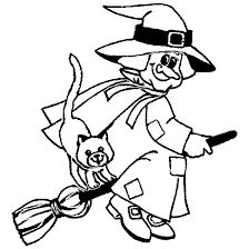Small Picture Halloween Coloring Pages Witch On Broom Coloring Pages
