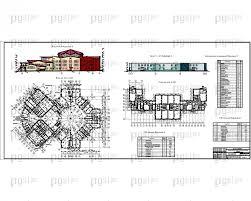 Скачать бесплатно дипломный проект ПГС Диплом №  3 Фасад У А вариант 1 План на отм 0 000 Фасад вариант 2 План на отм 0 000 ТЭП зданий jpg
