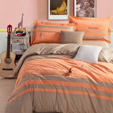 gray and orange comforter set blue rugby stripe twin 6pc bed in a silver grey