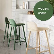 Us 4500 Modern Design Solid Wooden Or Plastic And Metal Bar Stool Fashion Design Counter Stool Colorful Solid Wooden Bar Chair 2pc In Bar Chairs