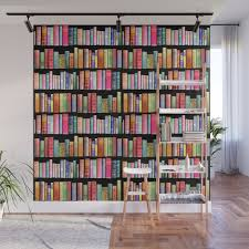 vine book library for bibliophile wall mural