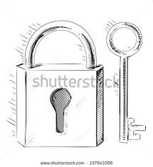 lock and key drawing. Exellent And Door Lock And Key Sketch Isolated On White To Lock And Key Drawing