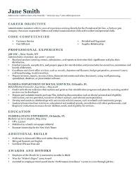 Examples Of Objective On A Resume Joefitnessstore Com