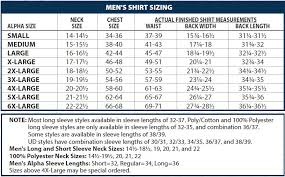 Flying Cross Size Chart Cdcr Line Duty Shirt