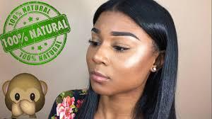 natural makeup look no lashes brownskin