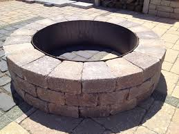 astounding paver fire pit kit at kits great selection of ring