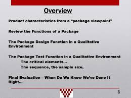 Functions Of Package Design Package Integrity Testing Optimizing Packaging And