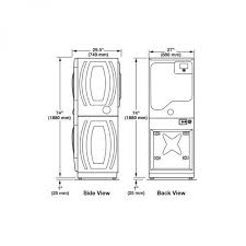 washer dryer dimensions. Exellent Dryer Stackable Washer Dryer Height Jonathan Steele Dimensions Of  And On T