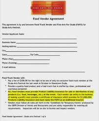 538 sample contract templates you can view, download and print for free. Food Vendor Contract Free Word Templatesfree Word Templates