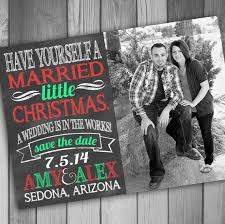 Christmas Wedding Save The Date Cards Christmas Save The Date Photo Card Engagement Card Printable