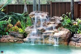 In ground pools with waterfalls Small Garden Universal Rocks Waterfalls For Pool Swimming Pool Waterfalls Universal Rocks