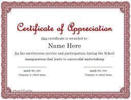 Volunteer Certificate Template 9 Free Printable Certificates Of
