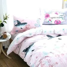 shark bedding shark bedding cartoon shark fish cotton full queen size pink bedspreads soft summer bedding
