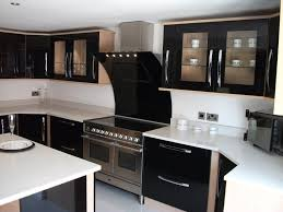 modern black white. Long Cabinet Handles In Chrome Finish For Modern Black Painted Kitchen Hardware With White Countertops