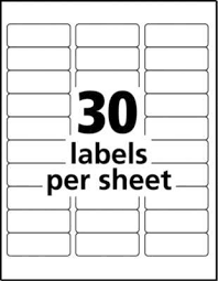 Avery Address Lables Avery Easy Peel Permanent Address Labels 18660 1 X 2 58 Clear Pack