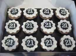 12 21 Birthday Cupcakes For Men Photo Male 21st Birthday Cake