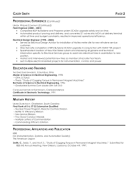 Military Electrical Engineer Sample Resume Resume Cv Cover Letter