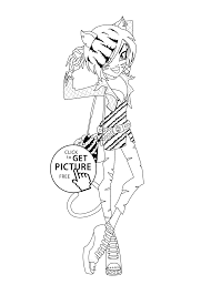 Toralei Stripe Monster High Coloring Pages For Kids Printable Free