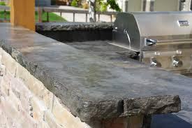 rustic outdoor concrete countertop kitchen rustic patio denver