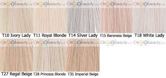 T18 Wella Toner Chart I Think The Names Have Changed But Wella Color Charm Toners