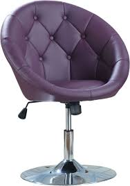 purple office decor. lavish purple leatherette swivel desk chair with tufted backrest and chrome polished round metal base as well best chairs also office desks of decor a
